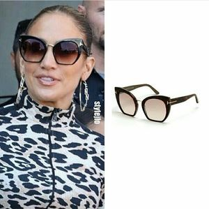 RARE! Tom Ford Samantha Cropped Cat-Eye Sunglasses